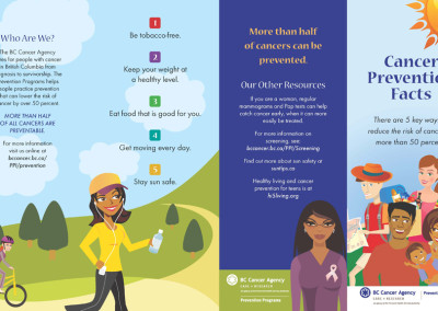 BCCA Cancer Prevention Facts brochure