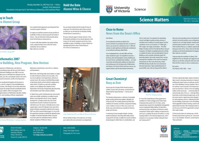 UVic Science Matters newsletter
