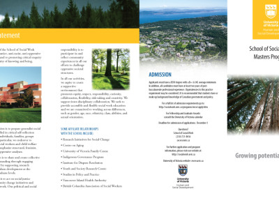 Uvic SOCW Masters brochure