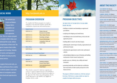 Uvic SOCW Masters brochure 2