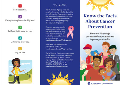 BCCA Know the Facts brochure